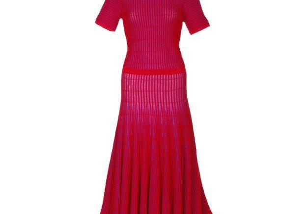Robe rouge plissée Madeleine