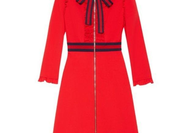 Robe rouge zippée Gucci