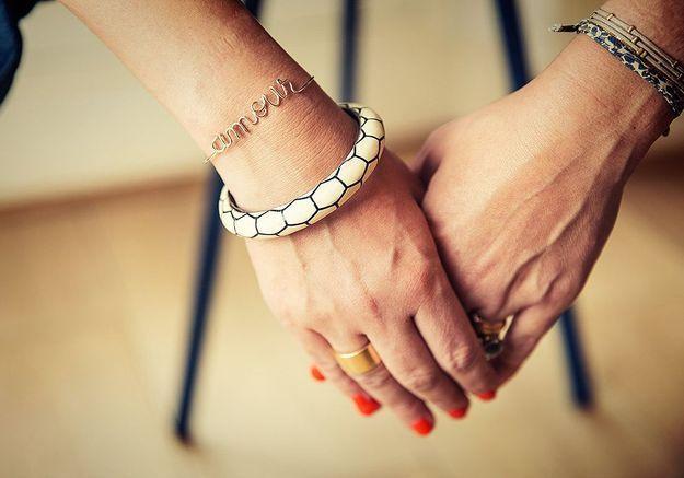 Bracelet en fil de métal précieux à personnaliser