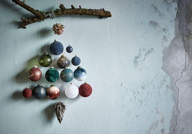 Les boules de Noël à suspendre font leur show !