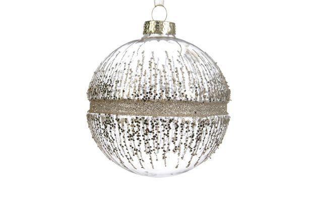 Boule de Noël à paillettes