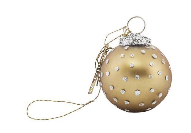 Boule de Noël à pois