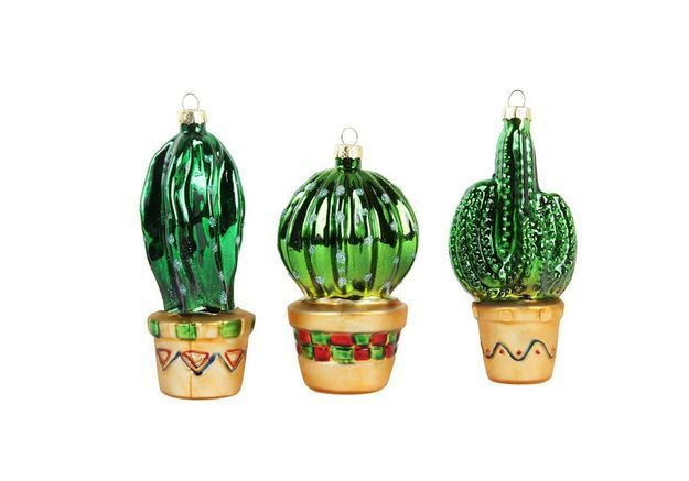 Boule de Noël en forme de cactus