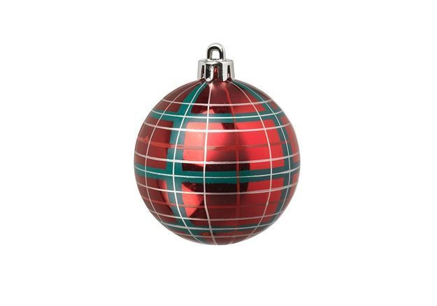 Boule de Noël imprimé tartan