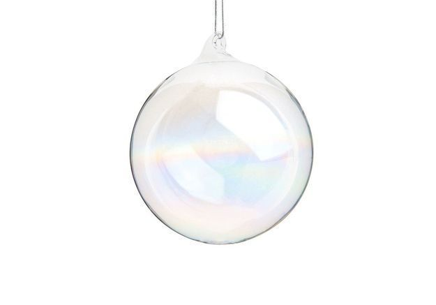 Boule de Noël irisée