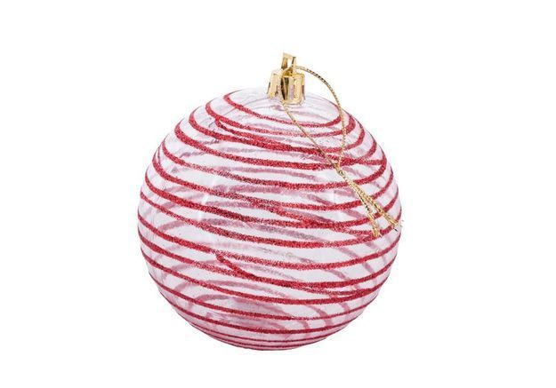Boule de Noël rayée