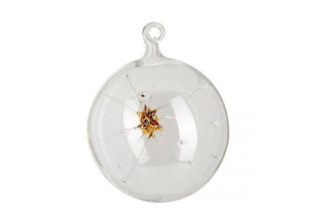 Boule de Noël en verre étoilée