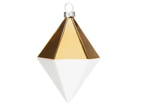 Boule de Noël en verre géométrique