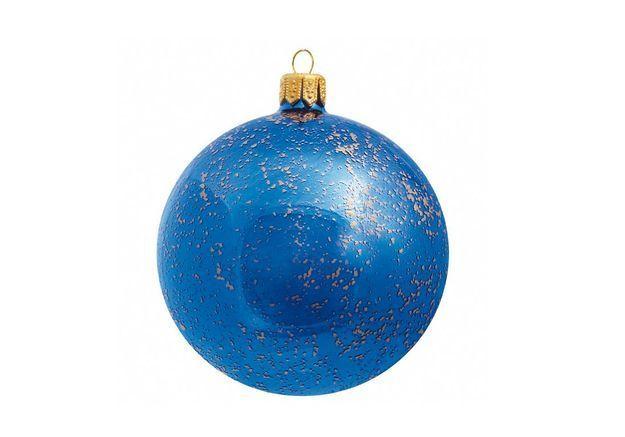 Boule de Noël en verre mouchetée