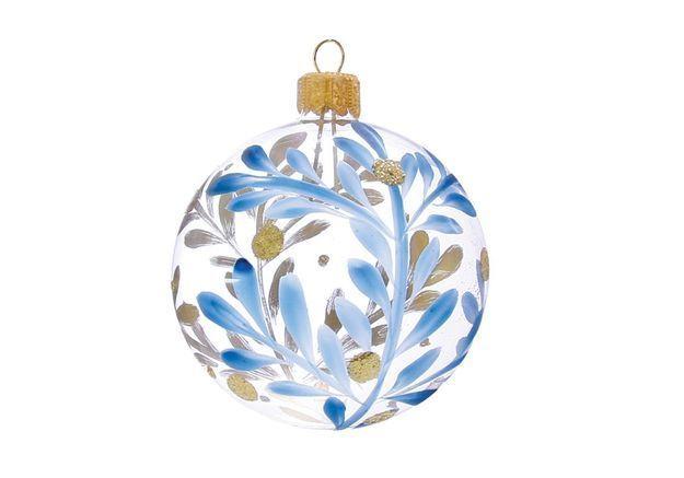 Boule de Noël en verre peinte