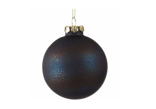 Boule de Noël en verre sombre