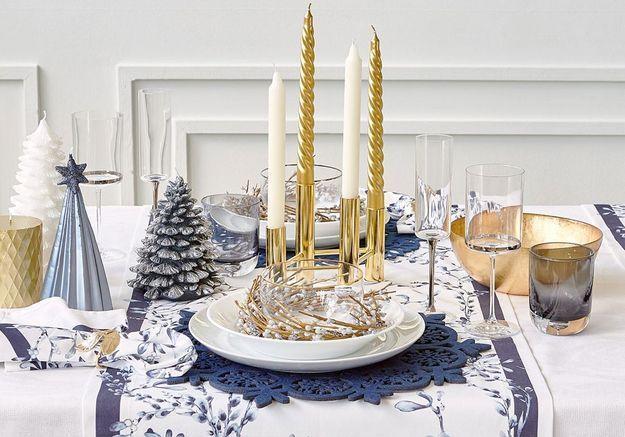Centre de table de Noël avec des chandelles