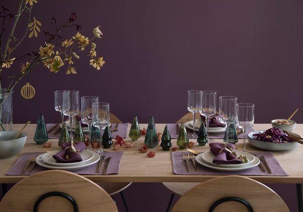 Une déco de table de Noël qui revisite le sapin de Noël