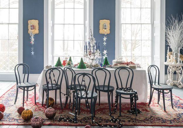 Une décoration de table de Noël aux mélanges inattendus