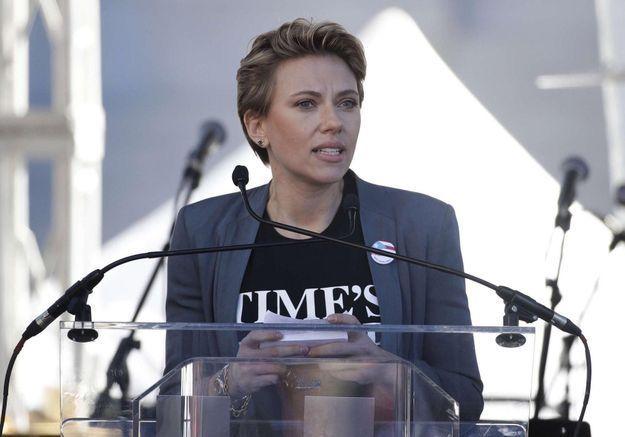 A la Women's March, Scarlett Johansson dénonce James Franco