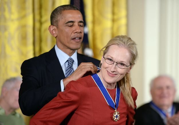Barack Obamaavoue publiquement son amour à Meryl Streep