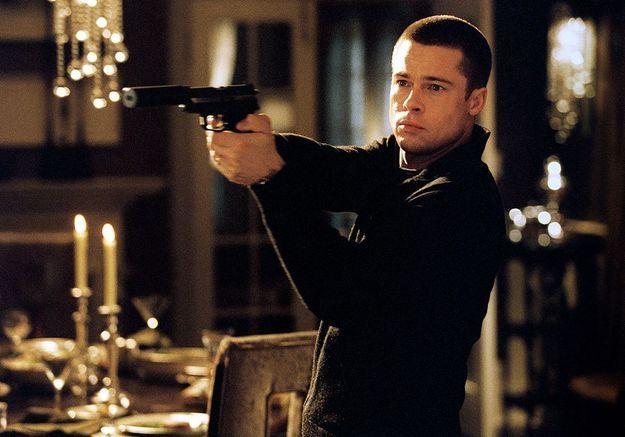 Brad Pitt a eu sa première arme au jardin d'enfants