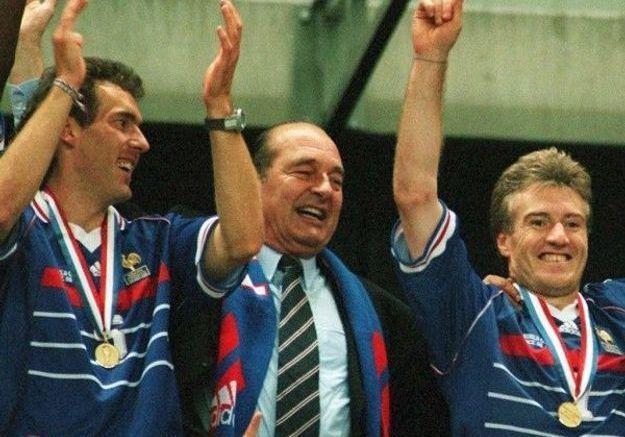 Chirac et les Bleus