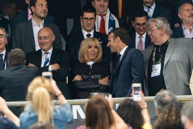 Le couple présidentiel a passé une belle soirée au Stade de France