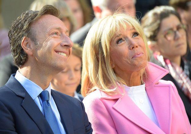 Stéphane Bern et Brigitte Macron à la villa Pauline Viardot