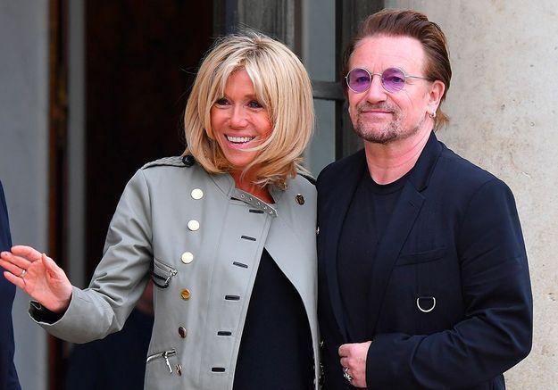 Brigitte Macron : les dessous de la rencontre présidentielle avec Bono