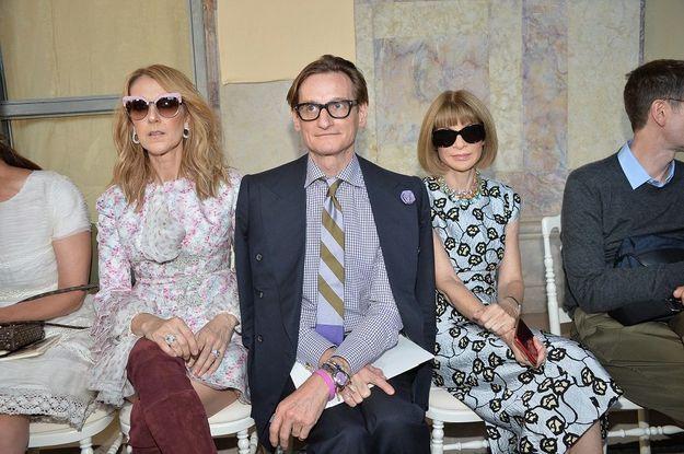 Céline Dion, Hamish Bowles et Anna Wintour