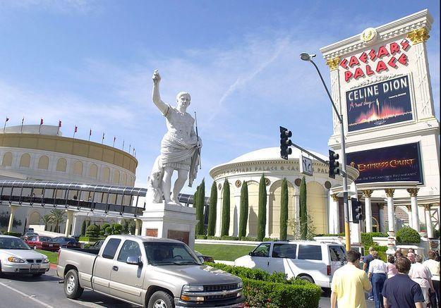L'affiche devant le Caesars palace