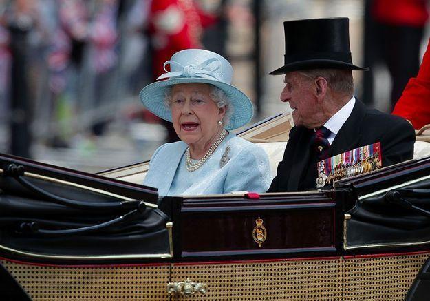 L'arrivée de la reine et du duc d'Edimbourg