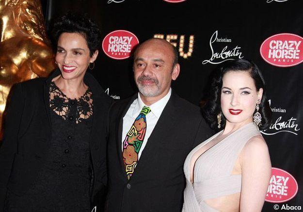 Farida Khelfa, Christian Louboutin et Dita Von Teese