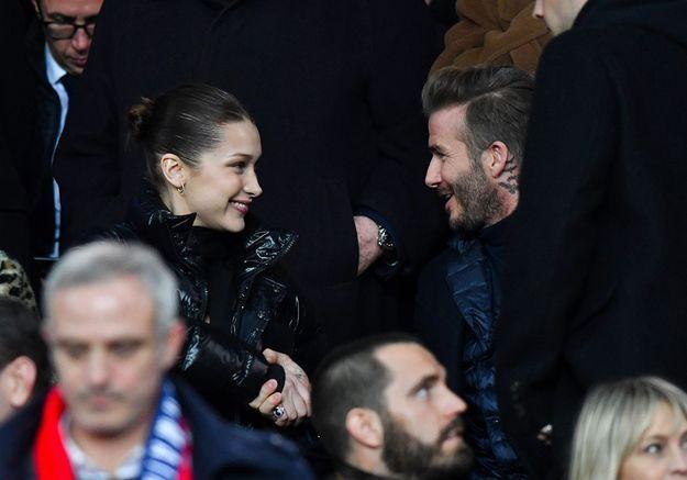 David Beckham et Bella Hadid : rencontre au sommet dans les tribunes du Parc des Princes !