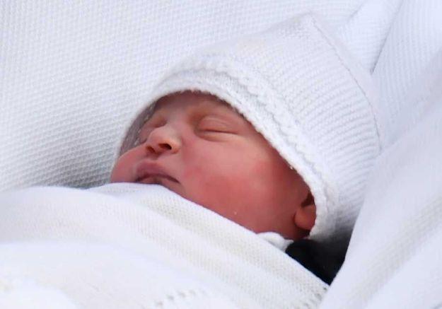 Le prince Louis, quelques heures après sa naissance