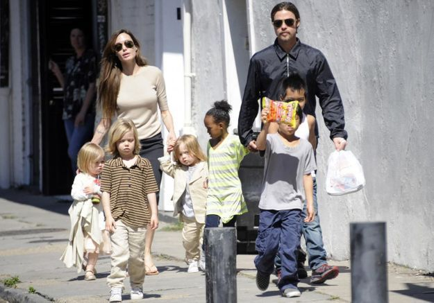 Brad Pitt et Angelina Jolie : leur tribu en images