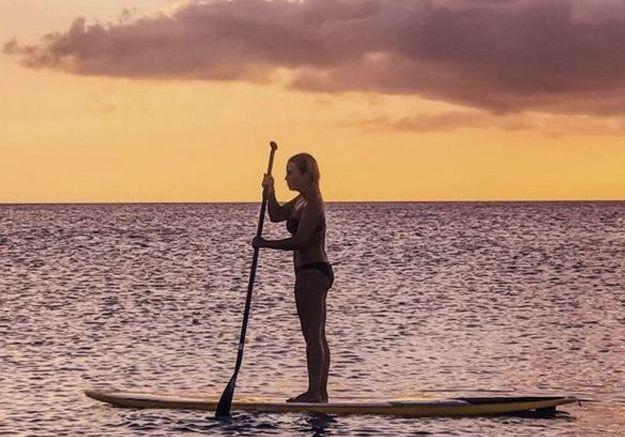Petite séance de paddle pour Erika Choperena