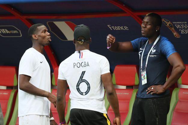 Paul Pogba et ses frères Florentin Pogba et Mathias Pogba