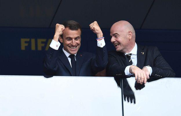 Dans les tribunes, Emmanuel Macron était déchaîné