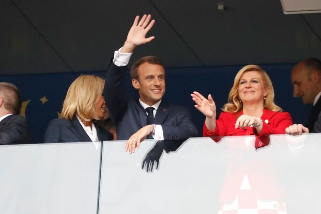 Emmanuel Macron et Kolinda Grabar-Kitarović