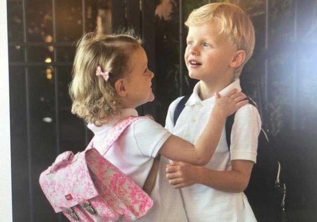 Gabriella et Jacques, les photos de la première rentrée des jumeaux à Monaco