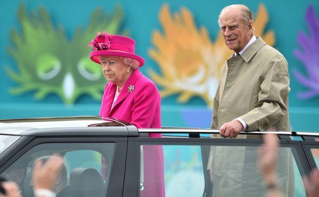 La reine d'Angleterre et le duc d'Edimbourg