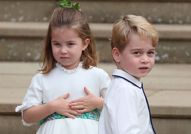 George et Charlotte : leurs photos d'enfants d'honneur au mariage de la princesse Eugenie