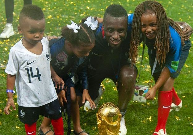 Blaise Matuidi et ses enfants