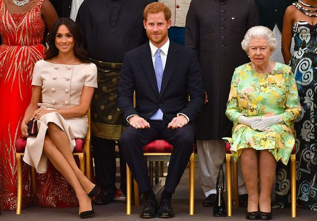 Meghan, Harry et la reine