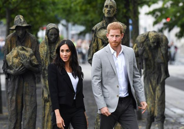 Meghan et Harry ont visité le mémorial de la Grande Famine à Dublin