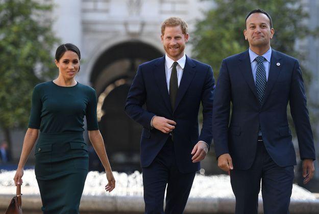 Meghan Markle, le prince Harry et le premier ministre irlandais Leo Varadkar
