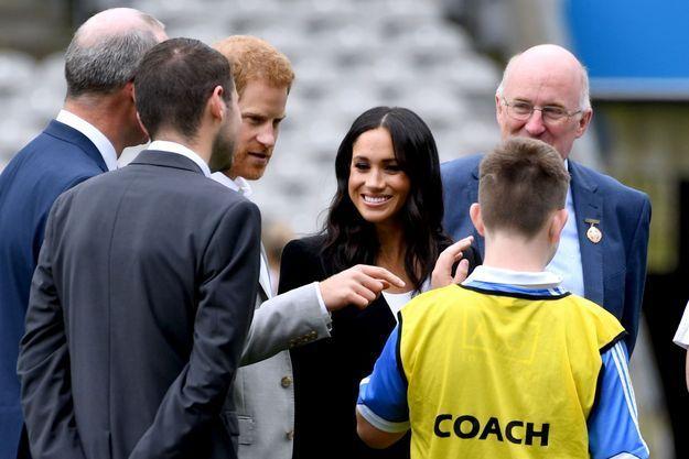 Meghan Markle semblait ravie de voir une démonstration de football gaélique