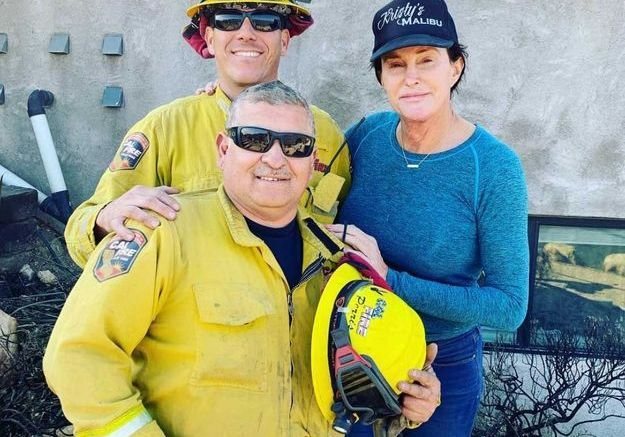Caitlyn Jenner remercie les pompiers