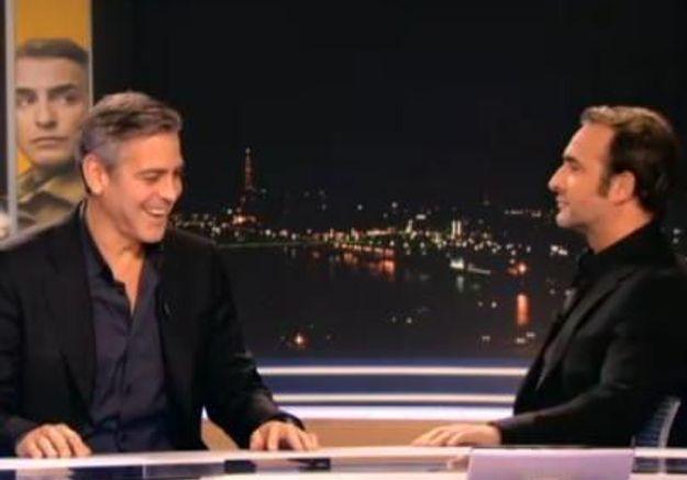 Jean Dujardin et George Clooney font les pitres au JT de TF1