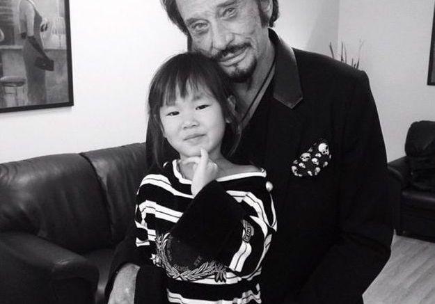Tendre moment père-fille pour Joy et Johnny