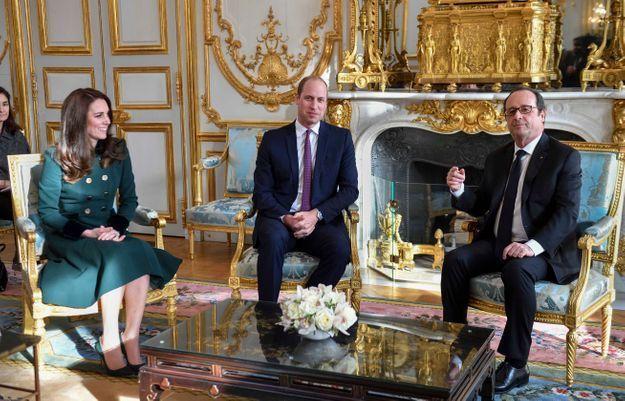 Entretien entre le duc et la duchesse de Cambridge, et François Hollande