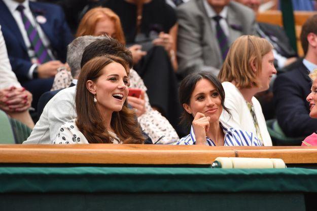 La duchesse de Cambridge et la duchesse de Sussex