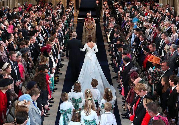 Eugenie au bras du prince Andrew
